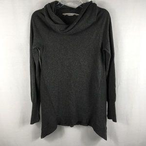 Athleta Gray Sweater Cowl Neck  Asymmetrical Sz S